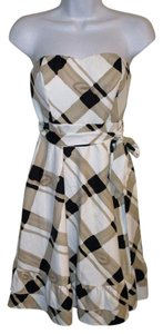 The Limited Plaid Strapless Summer Spring Dress