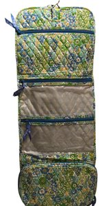 Vera Bradley Travel Make Up Green pattern Travel Bag