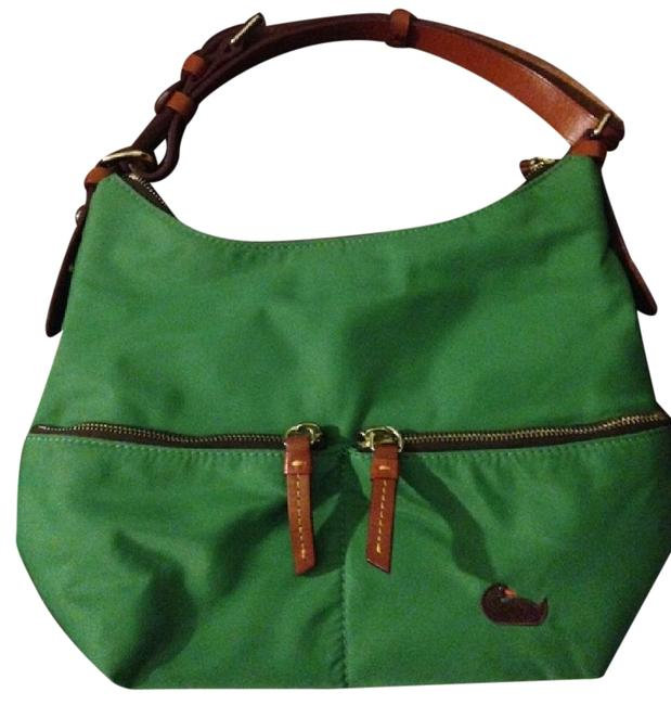 Item - Like New Green/Pink And Green with Pink Interior Nylon Shoulder Bag