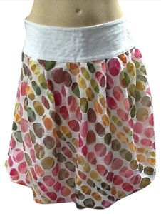 Etcetera Skirt White, pink, green, cantaloupe