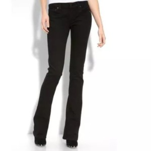 Citizens of Humanity Low Rise Boot Cut Jeans-Dark Rinse