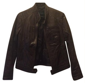 Superior New York brown Leather Jacket