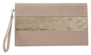 White House | Black Market Taupe Clutch