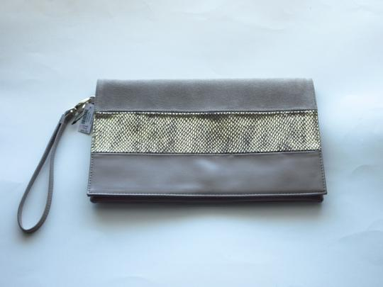 White House   Black Market Taupe Clutch Image 1