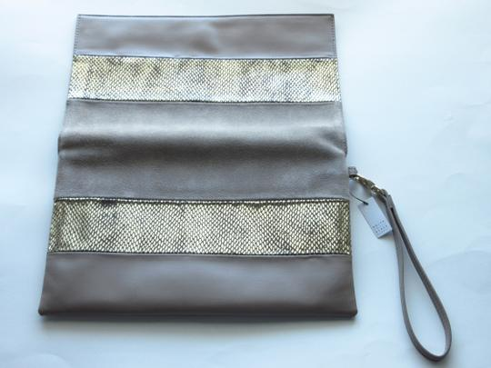 White House   Black Market Taupe Clutch Image 3