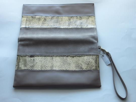 White House   Black Market Taupe Clutch Image 4