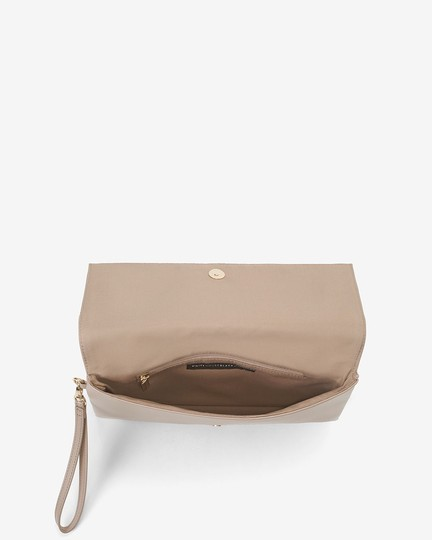 White House   Black Market Taupe Clutch Image 5