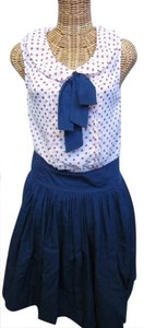 Dicia short dress Red, White Blue 4th Of July Polka Dot Lined Skirt on Tradesy