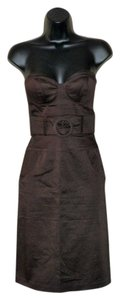 Arden B. short dress Brown Strapless Faux Belt on Tradesy