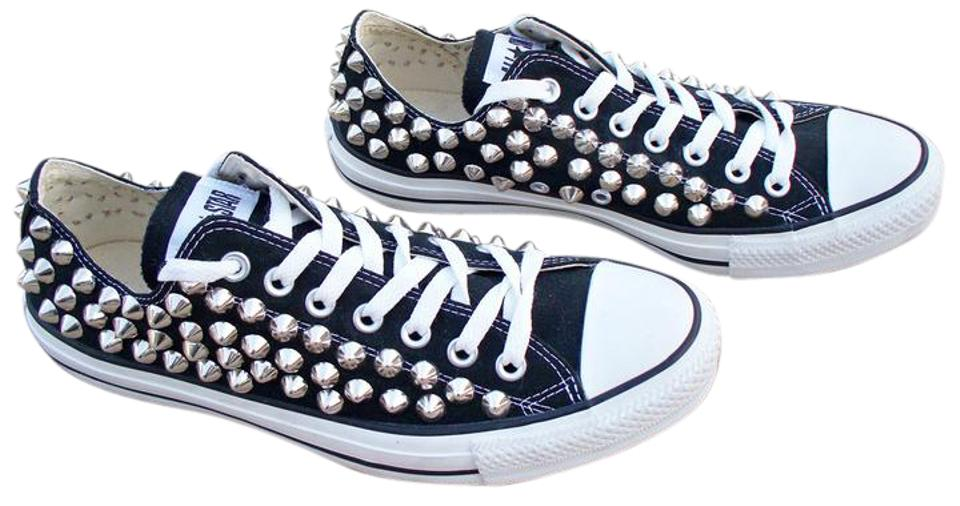 e4e569d94dc Converse Black All Star Studded Spiked Low Top Sneakers Sneakers ...