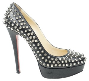 Christian Louboutin 140mm 38 Round Toe Black Pumps