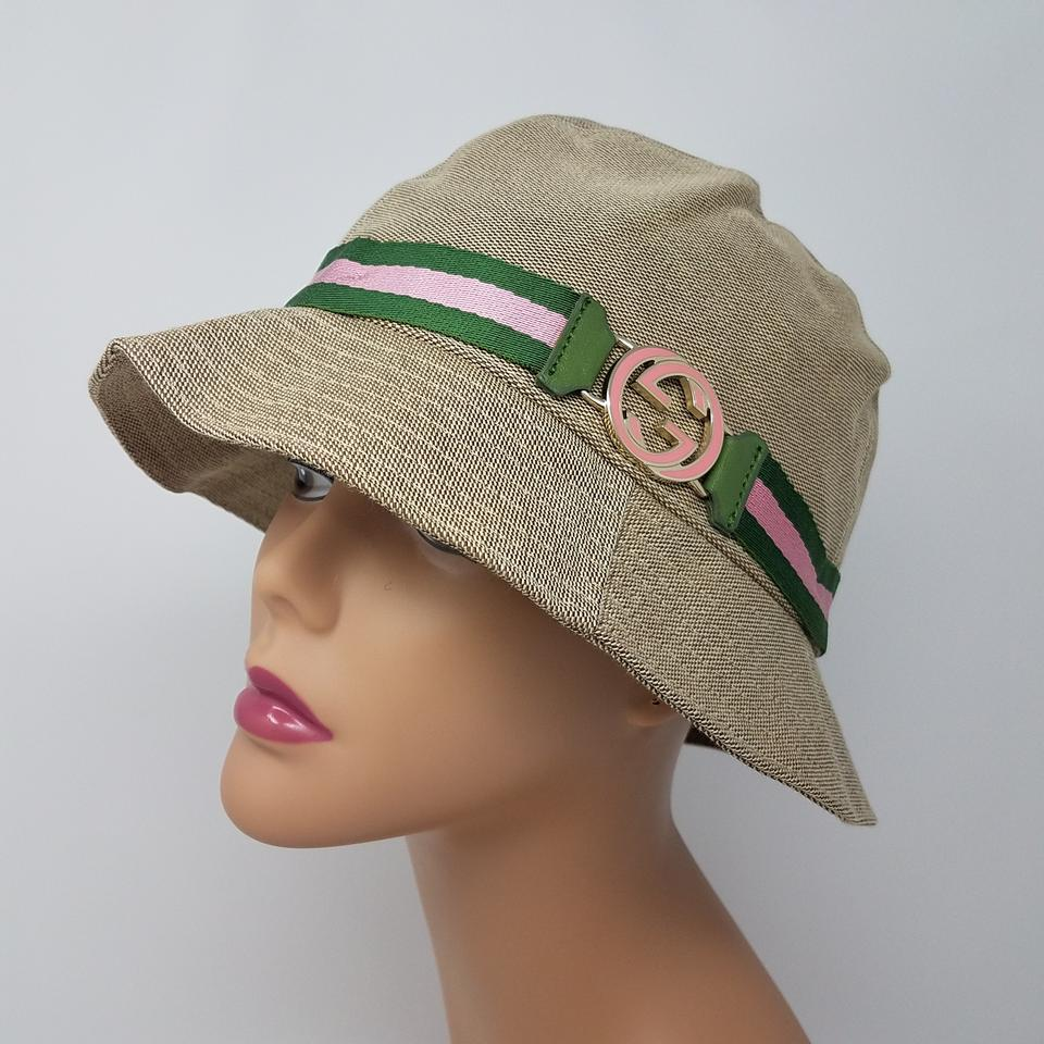 96fb37ed75b Gucci beige green pink brown logo bucket hat tradesy jpg 960x960 Gucci kangol  bucket hats