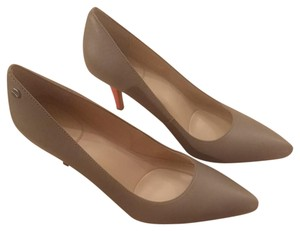 Calvin Klein Nude/Taupe with Orange accent heal Pumps