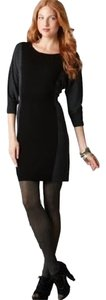 Ann Taylor LOFT short dress Black, grey Color-blocking Sweater Dolman Wool on Tradesy