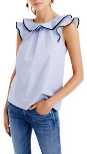 J.Crew Ruffle Geniune Top French Blue