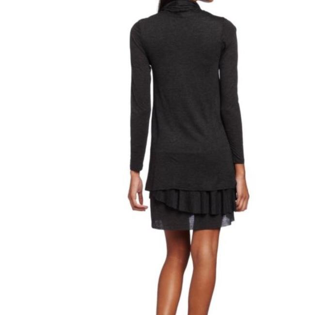 NEW Kensie Women's Long-Sleeve Sheer Dress Heather Charcoal sz L short dress charcoal on Tradesy