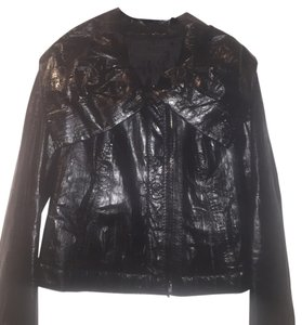 Donna Karan Eel Leather Leather Jacket