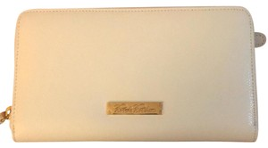 Brooks Brothers White full zip wallet