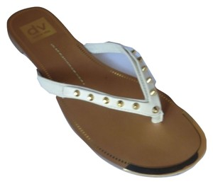 Dolce Vita Sandal Leather Studded Bone Sandals