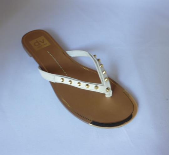 Dolce Vita Leather Studded Bone Sandals