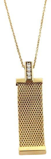 Preload https://img-static.tradesy.com/item/21149317/tiffany-and-co-yellow-gold-somerset-diamonds-mesh-long-pendant-necklace-0-1-540-540.jpg