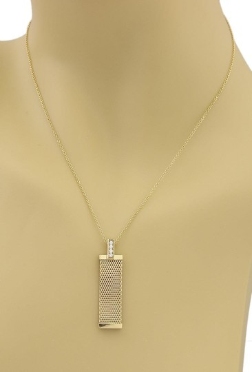 Tiffany & Co. Somerset Diamonds 18k Yellow Gold Mesh Long Pendant Necklace Image 1