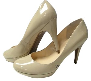 """Marc Fisher Natural Faux Patent 4"""" Heels nude Pumps"""