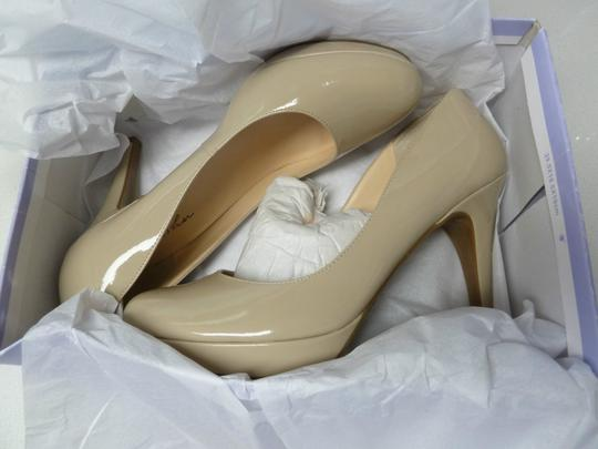 "Marc Fisher Natural Faux Patent 4"" Heels nude Pumps"