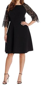 London Times Lace Trim Dress