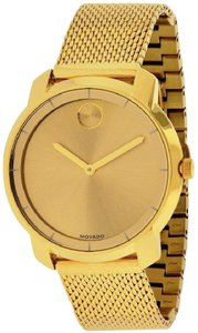 Movado MOVADO Bold Gold Dial Gold Ion-plated Mesh Ladies Watch