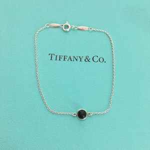 Tiffany & Co. Elsa Peretti Color by the Yard Black Jade Silver 7.5