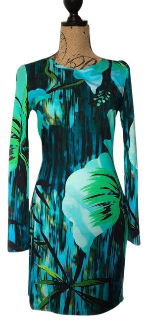 Preload https://img-static.tradesy.com/item/21149624/matthew-williamson-green-tropical-floral-print-long-sleeve-fitted-mid-length-short-casual-dress-size-0-1-650-650.jpg