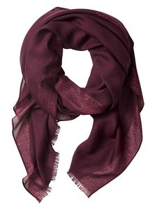Banana Republic Lurex Scarf in Vamp Red