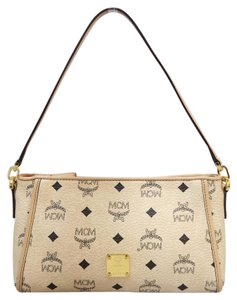 MCM Color Visetos Calfskin Satchel in wheat