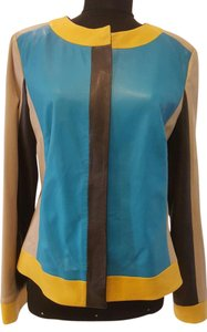 Escada Multi Color Leather Jacket