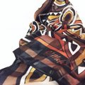 Bob Mackie gorgeous silk sheer floral geometric wearable art scarf by bob mackie Image 3