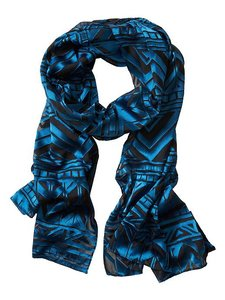 Banana Republic Burnout Teal Scarf