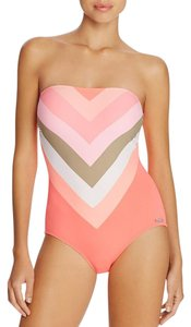 Vince Camuto Camellia Chevron Stripe One Piece Swimsuit