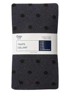 Gap Gap Black on Black Dot Tights True Black M/L $24
