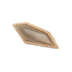 Louise et Cie NWT Louise Et Cie Gold Tone Pave Crystal Horn Ring