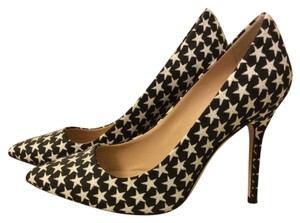 J.Crew Pointed Toe And Black w/ white stars Pumps