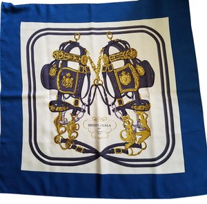 Hermès FINAL SALE! BOX RIBBON Hermes 'Brides De Gala' motif silk scarf