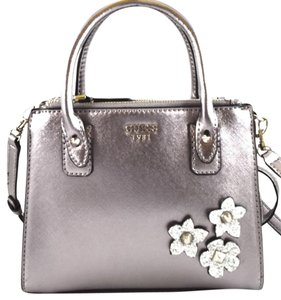 Guess Satchel in pewter