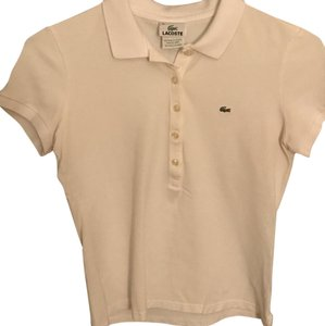 Lacoste T Shirt teal pink and white