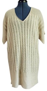 J.Crew short dress Sand Knit Long Sweater Beige on Tradesy