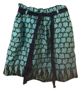 Lilly Pulitzer Vintage Summer Spring Casual Fashion Mini Skirt Blue, Green