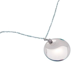 Tiffany & Co. Tiffany Elsa Peretti Medium 1in Round Disc Concave Necklace in Sterlin