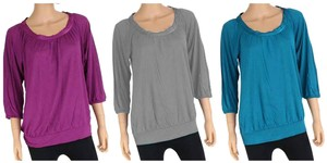 Banana Republic Teal Top Raspberry Only
