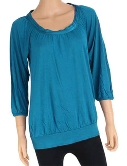 Banana Republic Teal Top Raspberry Only Image 2