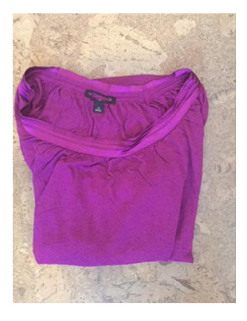 Banana Republic Teal Top Raspberry Only Image 4